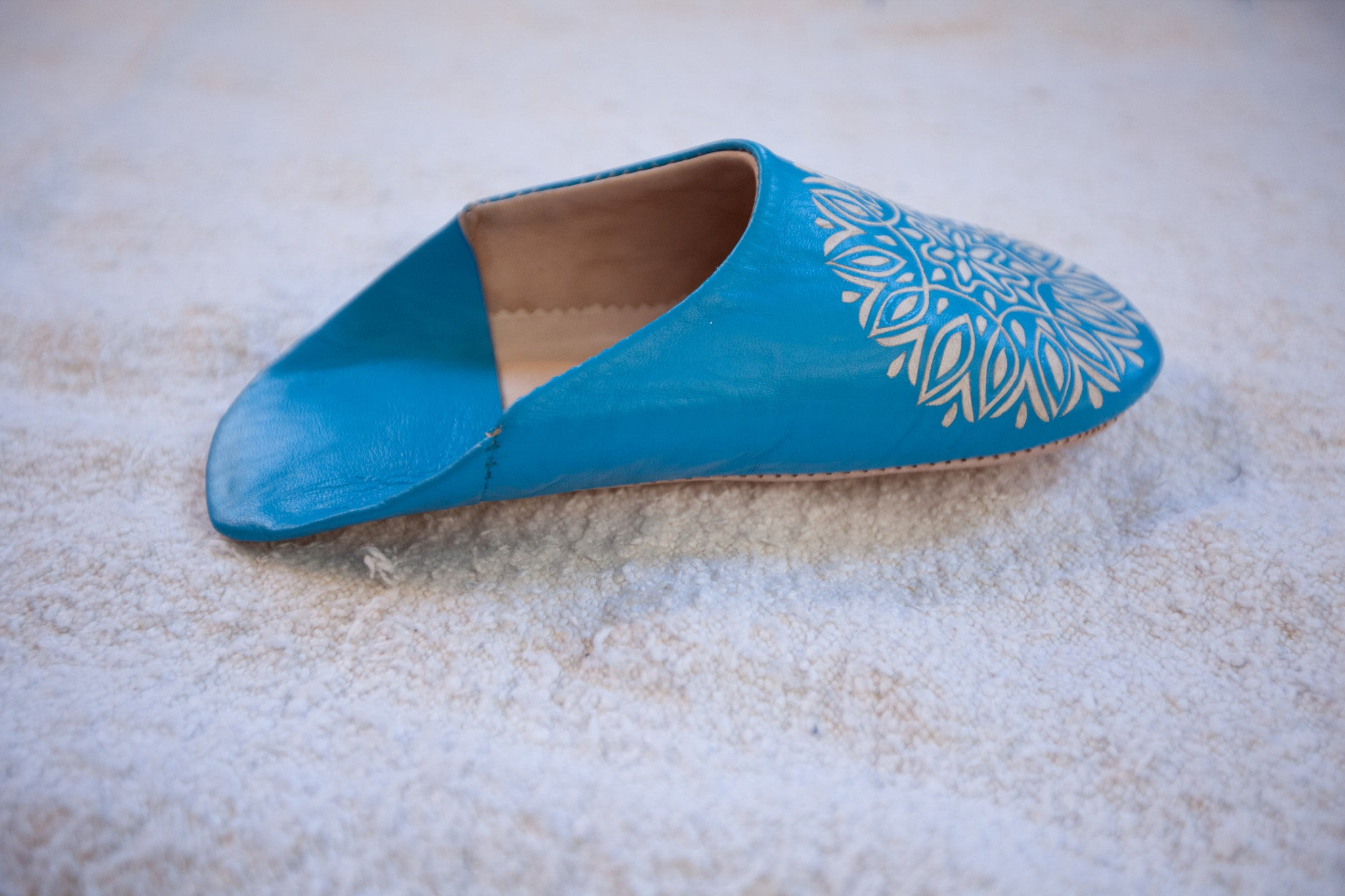 'TWINKLE TOES'  TURQUOISE BABOUCHE SLIPPERS - Maven Collection