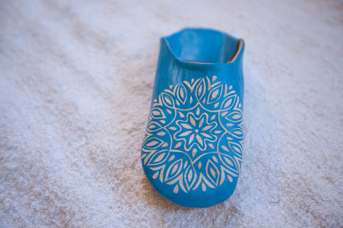 'TWINKLE TOES'  TURQUOISE BABOUCHE SLIPPERS