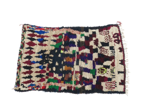 'SEATTLE STORM' MOROCCAN BOUCHEROUITE RAG RUG - Maven Collection