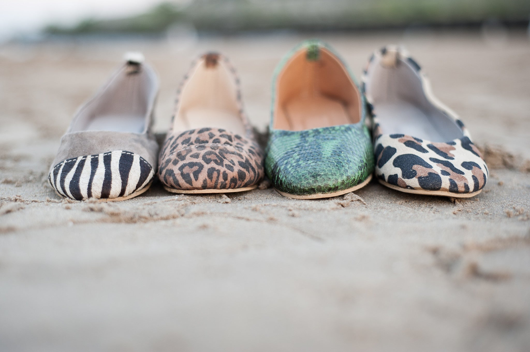 'ZEBRA  DIPPED' FLATS - Maven Collection