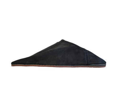 NOIR SUEDE BABOUCHE SLIPPERS