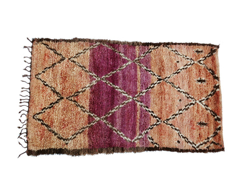 'IT'S A GIRL'  VINTAGE  BENI MELLAL RUG