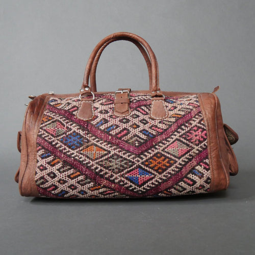 'BLUEBERRY PIE'  MOROCCAN KILIM BAG