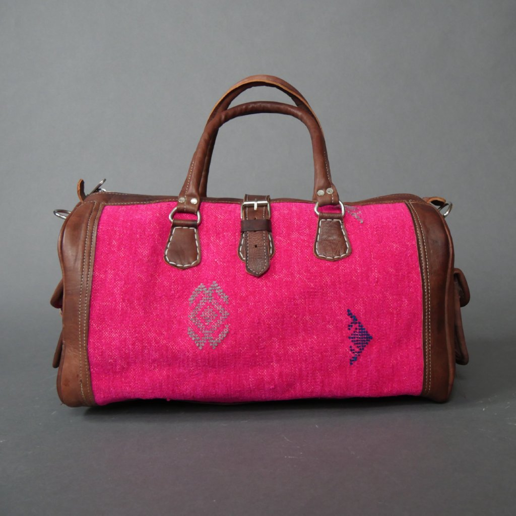 'PINK PARADISE'  MOROCCAN KILIM BAG - Maven Collection