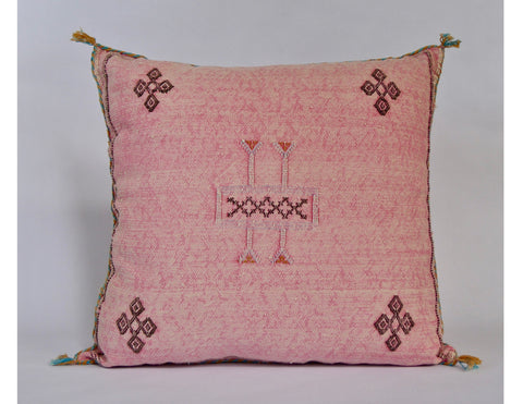 'Ladies and Magenta' Vintage Boujad Rug