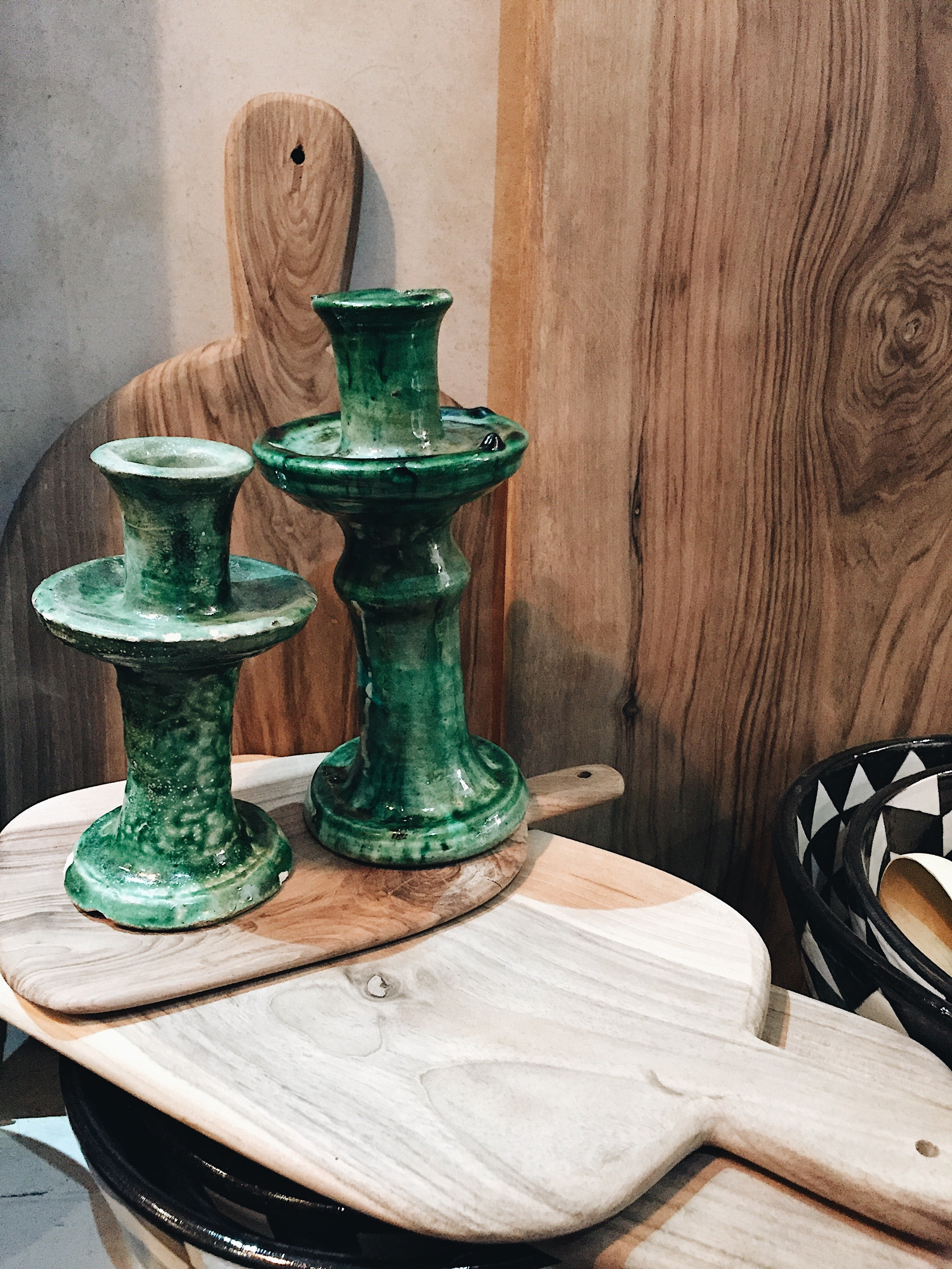 Green Tamegroute Candlestick - Small