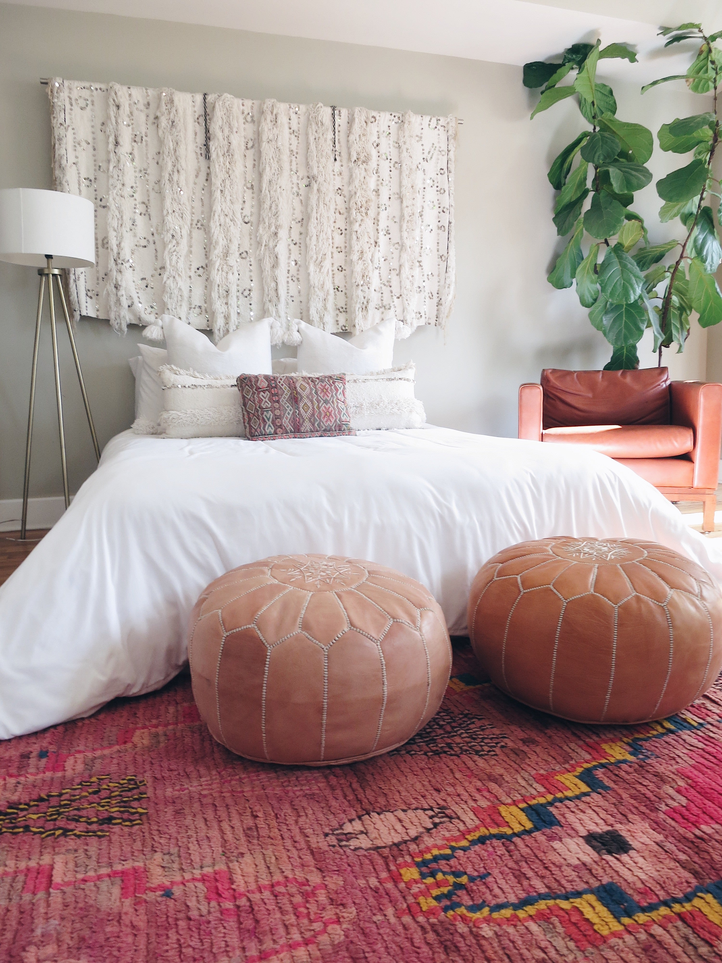 'Le Blanc'  Moroccan Pom Pom Pillow - Maven Collection