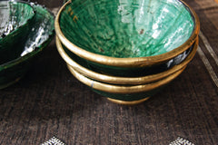 Gold Rim Tamegroute Pottery - Large Bowl - Maven Collection