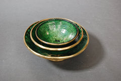 Gold Rim Tamegroute Pottery - Small Bowl - Maven Collection