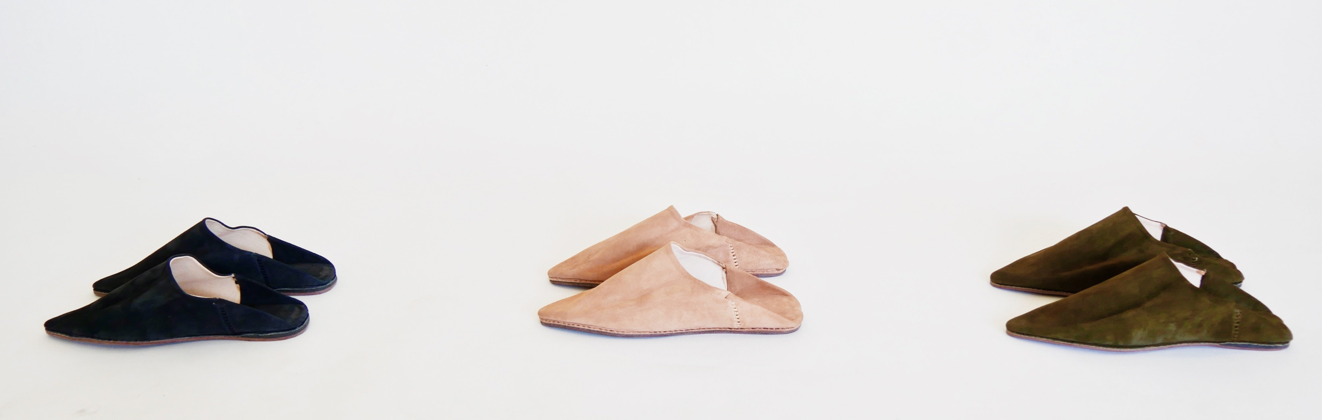 NUDE SUEDE BABOUCHE SLIPPERS