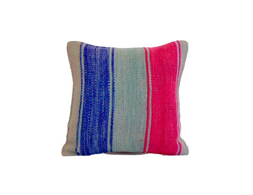 'No Room for the Blues' Peruvian Frazada Pillow