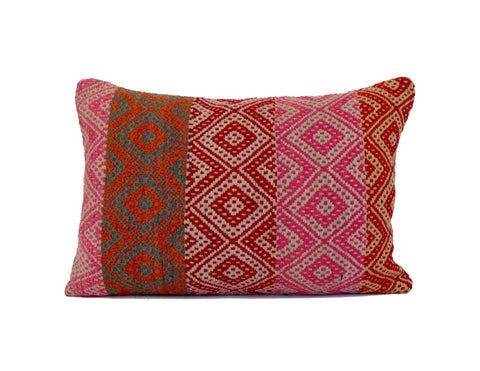 'Big Bird'  Moroccan Sabra Silk Pillow