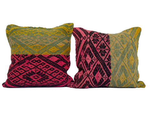 'Tile Art' Peruvian Frazada Pillow