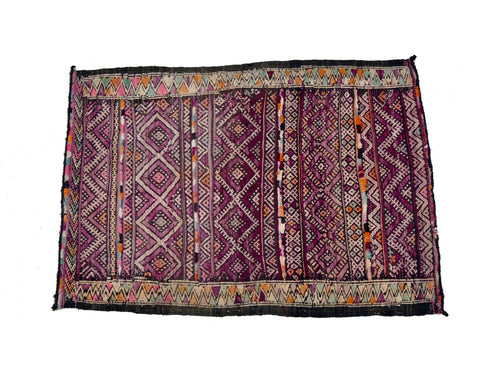 'Purple With a Purpose' Vintage Kilim Rug