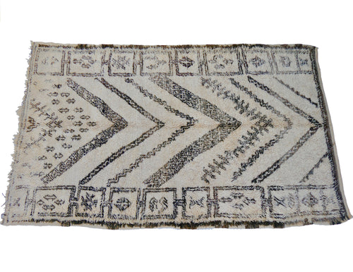 'Emmerson' Vintage Moroccan Beni Ourain Rugs