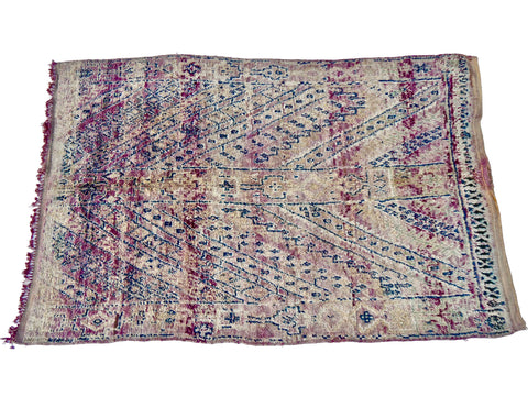 'Afterglow'  Moroccan Sabra Silk Pillow