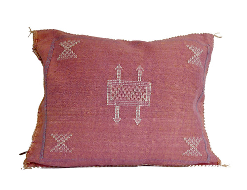 'Mauve'  Moroccan Sabra Silk Pillow
