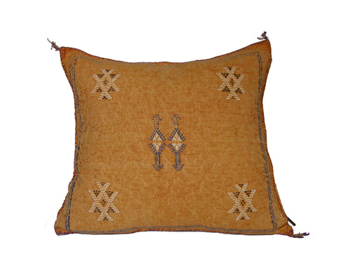 'Into the Groove'  Moroccan Sabra Silk Pillow