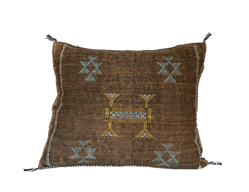 'Hoax'   Moroccan Sabra Silk Pillow