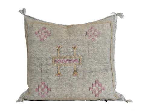 'Purple Fever'  Moroccan Sabra Silk Pillow