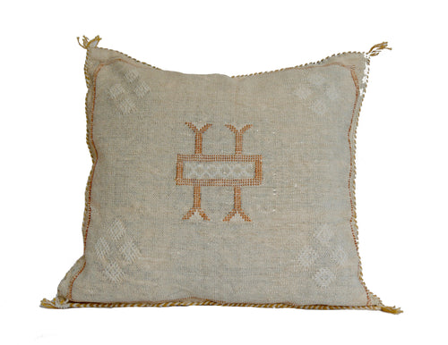 'Pumpkin Spice'  Moroccan Sabra Silk Pillow