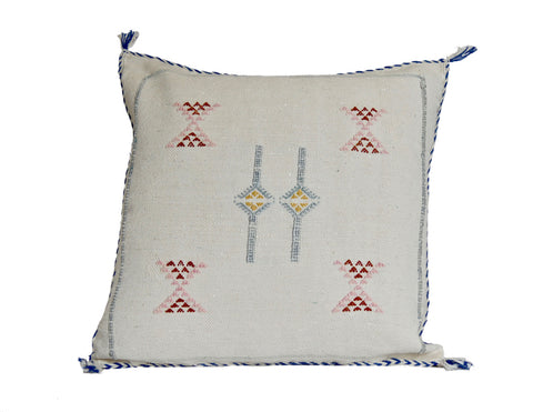 'Invisible String'   Moroccan Sabra Silk Pillow