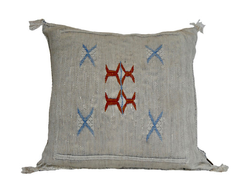 'Emmett'  Moroccan Sabra Silk Pillow