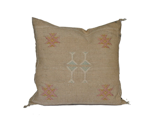 'Golden Thread'  Moroccan Sabra Silk Pillow