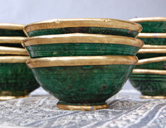 Gold Rim Tamegroute Pottery - Small Bowl