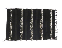 'Noir' Moroccan Wedding Blanket - Maven Collection