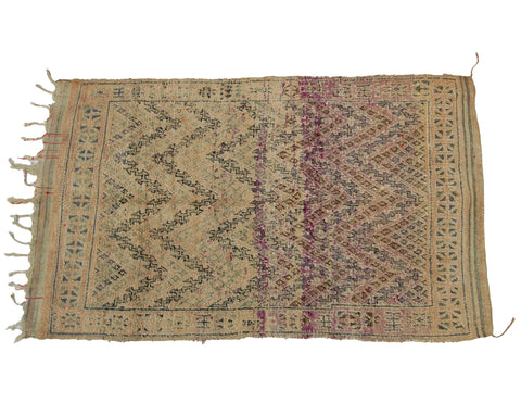 'In the Navy' Vintage Boujad Rug