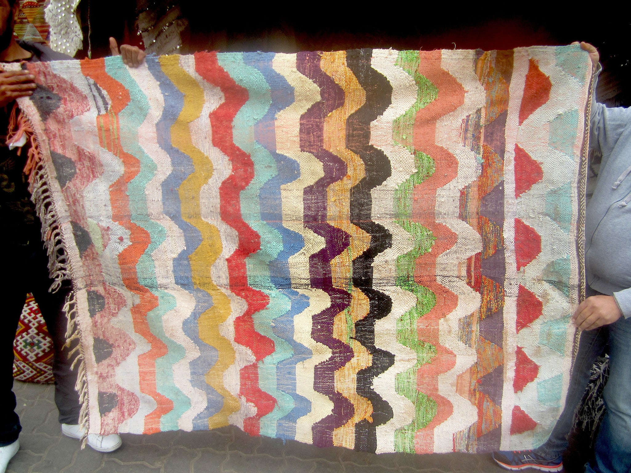 'SEDONA SUNSET'  BOUCHEROUITE RAG RUG - Maven Collection