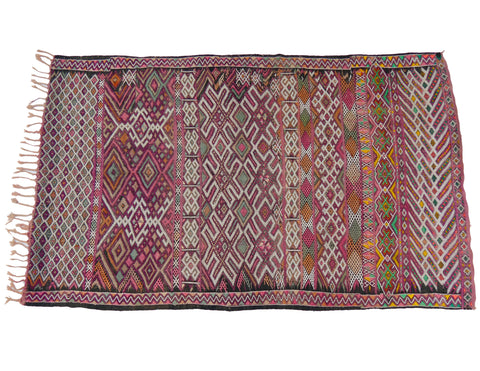 'Purple Lattice' Vintage Boujad Rug