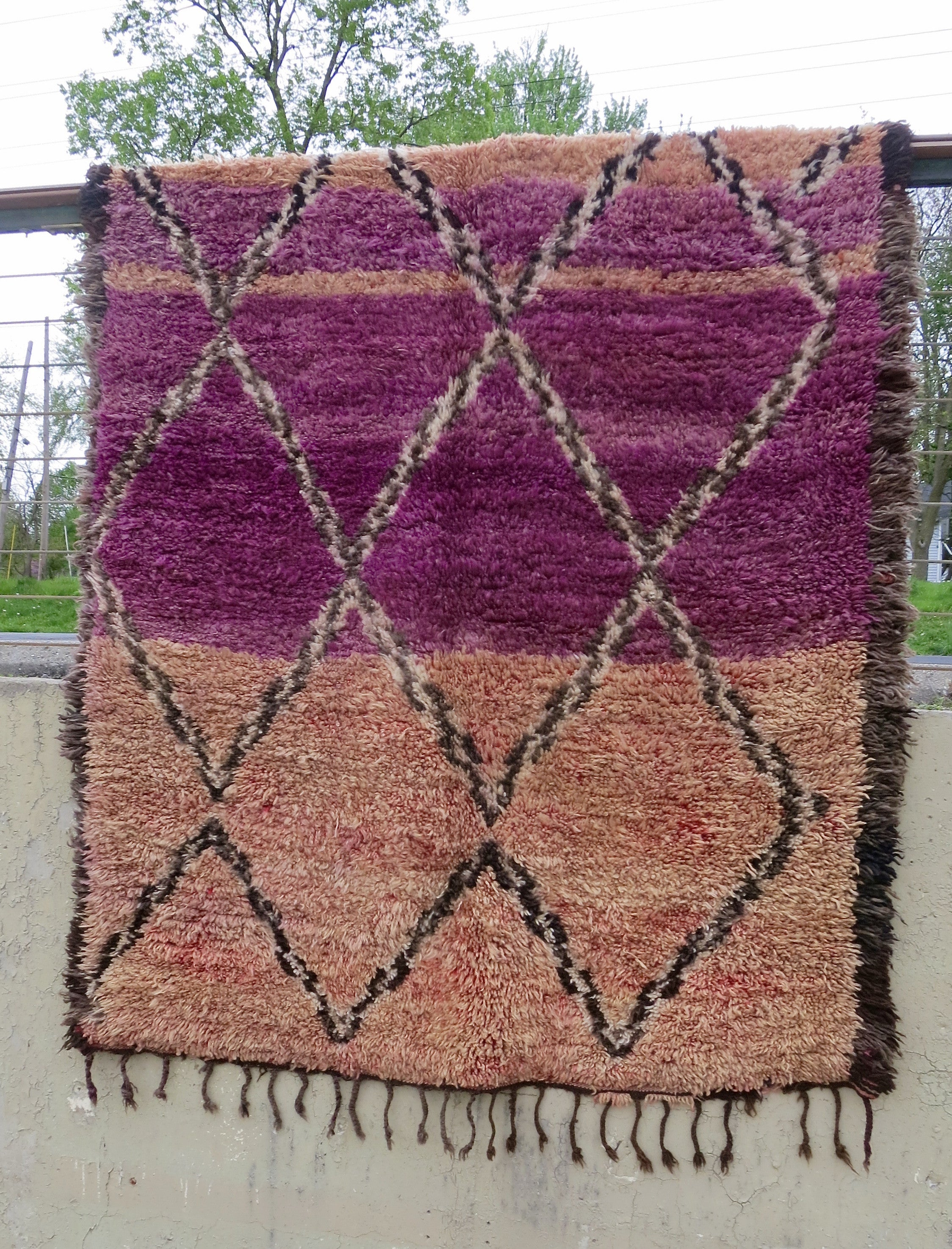 'Sedona Sunset' Vintage Beni Mguild Rug - Maven Collection
