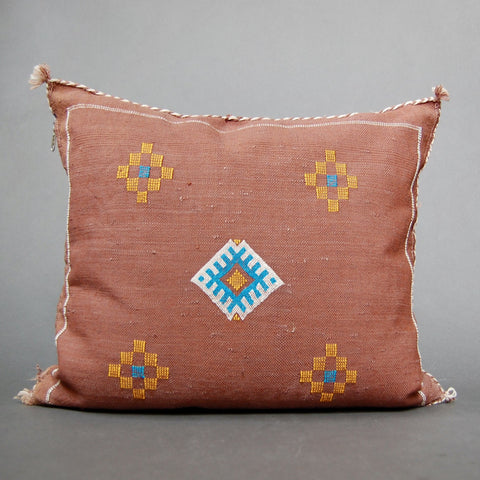 'Itzli'  Moroccan Sabra Silk Pillow