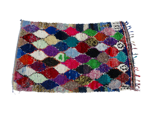 'Beautiful Disaster' Vintage Boujad Rug