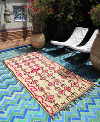 'Pink Atlas'  Moroccan Azilal Rug - Maven Collection