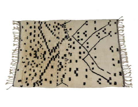 'Connect the Dots'  Moroccan Beni Ourain Rug