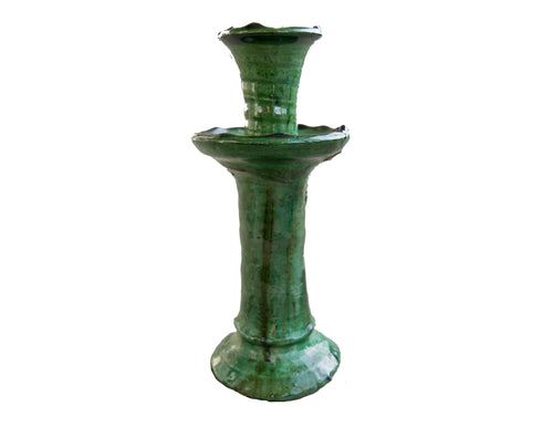 Green Tamegroute Candlestick - Large