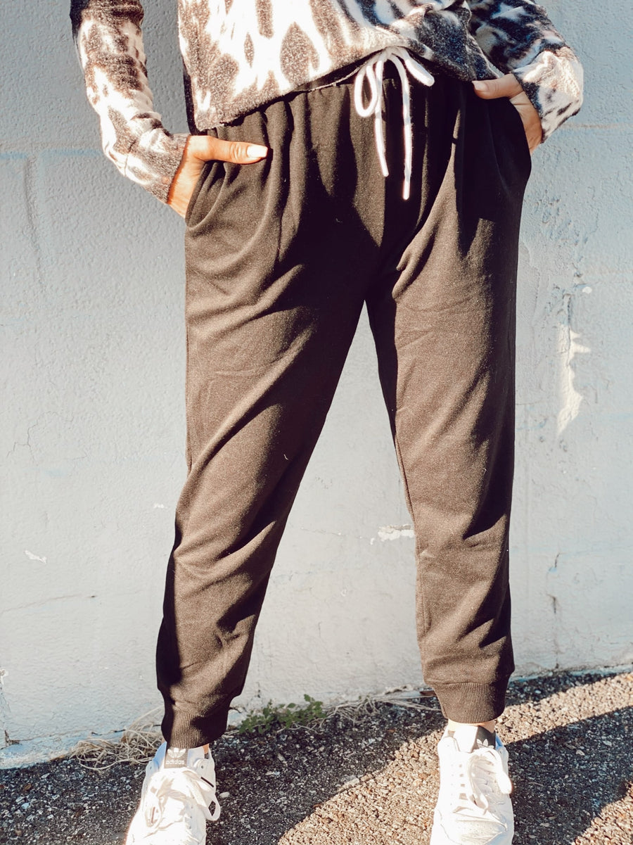 Joggers with Shoelace Tie