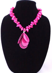 Charm necklace. Tagua nut made of. organic & eco accessories