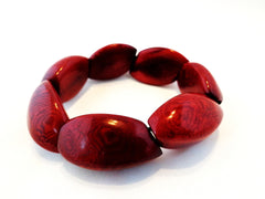 Eve bracelet. handmade of tagua nut. Organic and green gift. Brown