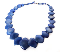 Celeste necklace. Handmade of tagua nut. Unique gift for summer