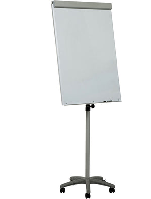 white dry erase easel with pad holder