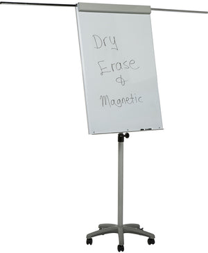 Extendable arms for additional presentation materials on our dry erase easel