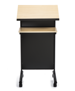 Mobile Portable Desk Podium classic school color