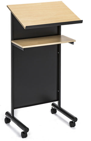 Black Beech Lectern with Angled shelf and paper stop
