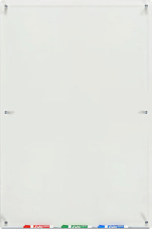 "18"" x 24"" Clear Glass Dry Erase Set"