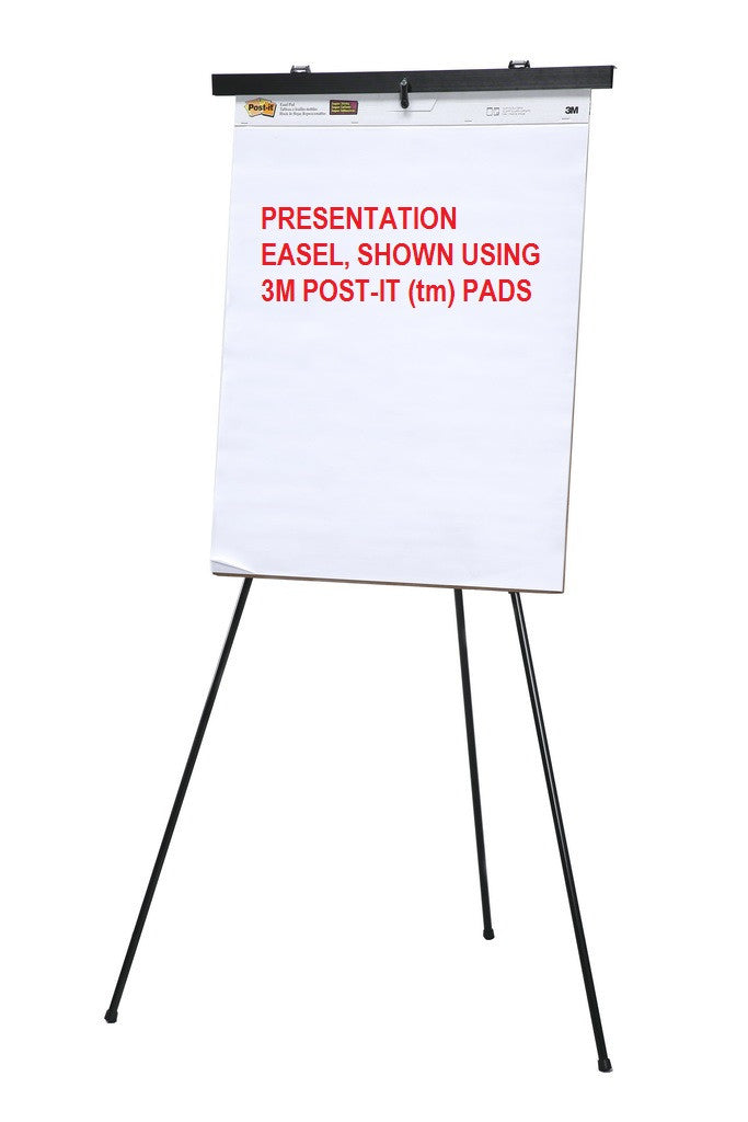 3mm pad being held by our free standing black presentation easel