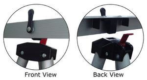 Front and Back view of our pad holder accessory for our easels